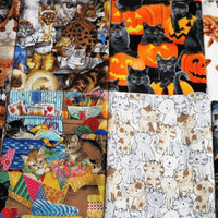 1lb Cats & Kittens Quilt shop Fabric Scraps and Remnants #3640-4 - Quilting & Sewing Fabric