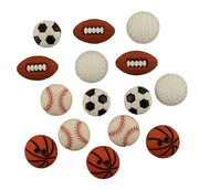 Buttons Galore Lets Play Ball Sports Novelty Buttons #5819