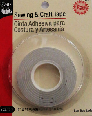 Dritz  Sewing & Craft Tape Double Faced Basting 1/4in x 11 1/3yds  #4613