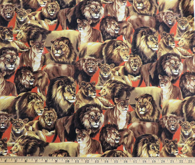 Living Wonders Realistic Lions Large Cats Fabri-Quilt #2924