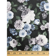 A Floral Perspective Flowers Ice Blue Hoffman Fabrics #6259 - Quilting & Sewing Fabric