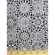 Amazing Lace Print Onyx Black 24632-J Quilting Treasures #7718 - Quilting & Sewing Fabric