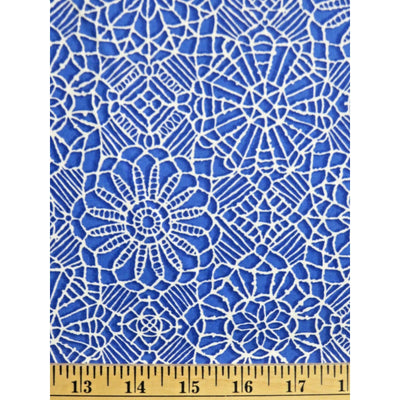 Amazing Lace Print Royal Blue 24632-Y Quilting Treasures #7722 - Quilting & Sewing Fabric