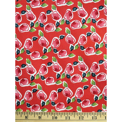 Ambrosia Rose Buds Floral KD29 Cranberry Free Spirit #713 - Quilting & Sewing Fabric