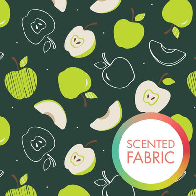 Apple Scented Print Green Fruit Food Camelot Cottons #4836 - Quilting & Sewing Fabric