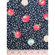 Apple Vineyard Apples and Vines Black Fruit Food VIP Fabric #1172 - Quilting & Sewing Fabric
