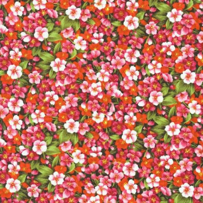Asian Garden Pink Blossoms Floral Fabri-Quilt #4909 - Quilting & Sewing Fabric