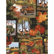 Autumn Harvest Fall Patch Green Timeless Treasures #5692 - Quilting & Sewing Fabric