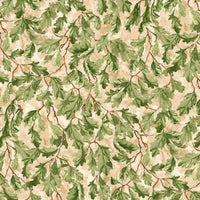 Before the Frost Autumn Foliage Leaves Tan Wilmington Prints #2623 - Quilting & Sewing Fabric