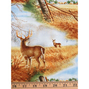 Before the Frost Wildlife Deer Scenic Wilmington Prints #1977 - Quilting & Sewing Fabric