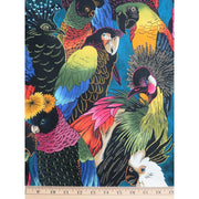 Birds of a Feather Tropical Birds Parrot Tucan Alexander Henry #2091 - Quilting & Sewing Fabric
