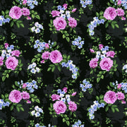 Black Melrose Hydrangea Beverly Park Floral RJR Fabrics #7212 - Quilting & Sewing Fabric