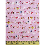 Blossoming Kind Words and Butterflies Kathy Davis Raspberry Free Spirit #712 - Quilting & Sewing Fabric