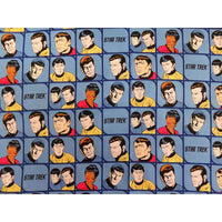 Blue Star Trek Characters in Blocks Camelot Fabric #5723 - Quilting & Sewing Fabric