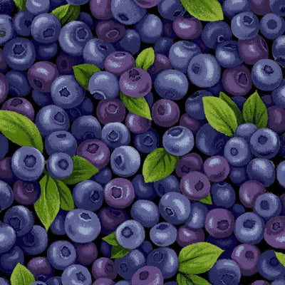 Blueberries Farmer Johns Garden Party Paintbrush Studio #7798 - Quilting & Sewing Fabric