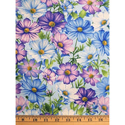 Botanica Blossoms Floral Blue Henry Glass Co. #7324 - Quilting & Sewing Fabric