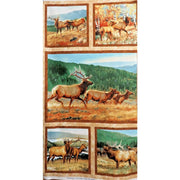 Breaking Light Wildlife Elk 23 Quilt / Wall Panel Wilmington Prints #2332 - Quilting & Sewing Fabric