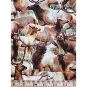 Breaking Lights Packed Elk Wildlife Wilmington Prints #2333 - Quilting & Sewing Fabric