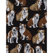 Bulldogs Puppies Black Timeless Treasures Fabric #6851 - Quilting & Sewing Fabric