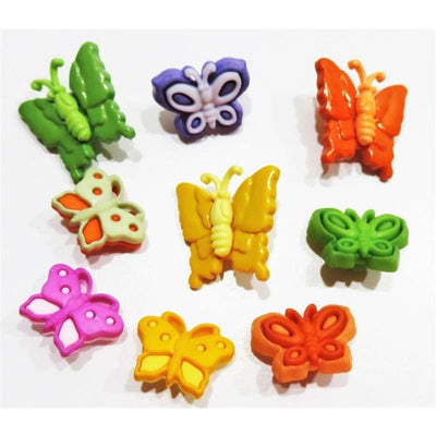 Butterfly Kisses Novelty Embellishment Plastic Buttons Galore #5825 - Sewing Notions