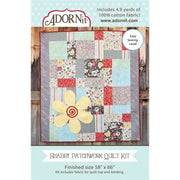 Carolees Creations Fabric Kit Shabby Patchwork Quilt Adornit #4272 - Quilting & Sewing Fabric