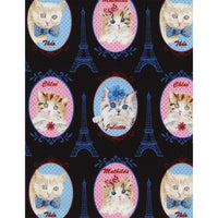 Cat Portraits Kittens & the Eiffel Tower Timeless Treasures #3185 - Quilting & Sewing Fabric