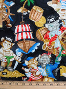 Cats Fairytale Peter pan Pawrates Cove Hoffman Fabrics #2394 - Quilting & Sewing Fabric