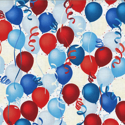 Celebrate Good Times Patriotic Balloons Hoffman Fabrics #7808 - Quilting & Sewing Fabric