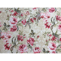 Charlemagne Floral Roses Tan Northcott Cottons #2171 - Quilting & Sewing Fabric