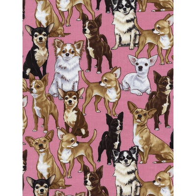 Chihuahuas Dogs & Puppies Timeless Treasures #7346 - Quilting & Sewing Fabric