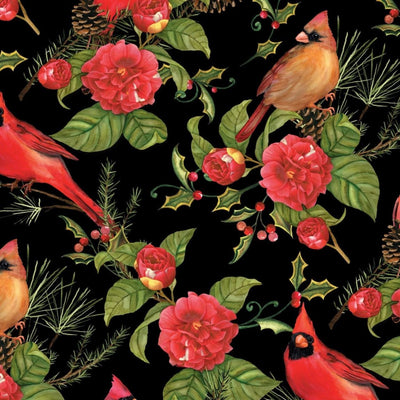 Christmas in the Wildwood Cardinal Birds Wilmington Prints #7686 - Quilting & Sewing Fabric