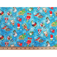 Christmas Joy Holiday Cats Elizabeths Studio #2596 - Quilting & Sewing Fabric