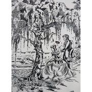 Classic Minis Country Toile Scenic Black & Ivory Robert Kaufman Fabrics #2420 - Quilting & Sewing Fabric