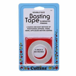Collins Double Face Basting Tape 1/8in x 200in #4248 - Sewing Notions