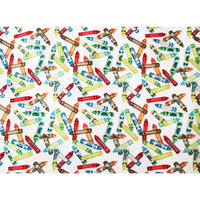 Crayons Its Elementary White Wilmington Prints #2426 - Quilting & Sewing Fabric