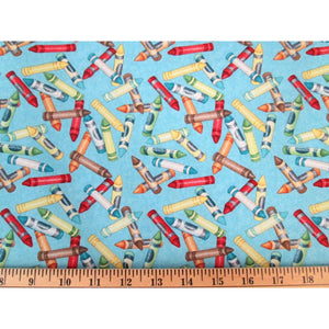 Crayons Its Elementary Wilmington Prints #2439 - Quilting & Sewing Fabric