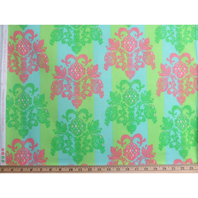 Damask Olivias Holiday Pineapple Post Tina Givens Free Spirit #628 - Quilting & Sewing Fabric