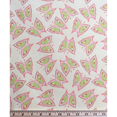 Dancing Butterfly Sleeping Beauty Butterflies Nel Whatmore Free Spirit #611 - Quilting & Sewing Fabric