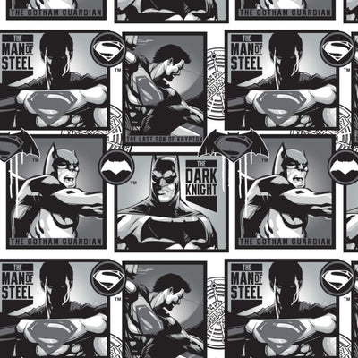 DC Comics Batman V Superman Camelot Cottons #5360 - Quilting & Sewing Fabric