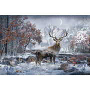 December Digital Call of the Wild Buck Deer Scenic Hoffman 28 Panel #7779 - Quilting & Sewing Fabric