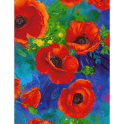 Digital All Over Poppies Floral Poppy Timeless Treasures #7850 - Quilting & Sewing Fabric