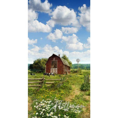 Digital American Byways Farm Scenic Sky 21 Panel Hoffman #7133 - Quilting & Sewing Fabric