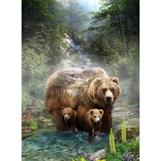 Digital Call of the Wild Grizzly Bears & Nature Scenic Hoffman 32 Panel #7777 - Quilting & Sewing Fabric