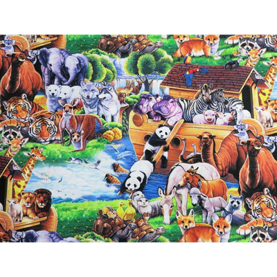 Digital Noahs Ark Multi Animals Four Seasons #6865 - Quilting & Sewing Fabric
