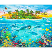 Digital Ocean Scenic Dolphins & Fish 35 Panel Robert Kaufman #7002 - Quilting & Sewing Fabric