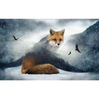Digital The Call of the Wild Fox & Nature Scenic Hoffman 25 Panel #7785 - Quilting & Sewing Fabric