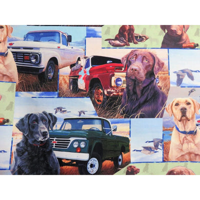 Digital Wild Wings Hunting Season Labrador Retrievers #6870 - Quilting & Sewing Fabric