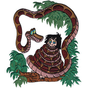 Disney Jungle Book Iron-On Applique Kaa W/Mowgli #6012 - Sewing Notions