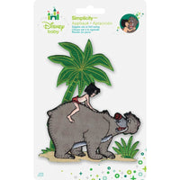 Disney Jungle Book Iron-On Applique Mowgli W/Baloo #6011 - Sewing Notions