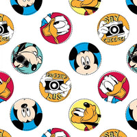 Disney Mickey Mouse Character Badge #3569 - Quilting & Sewing Fabric